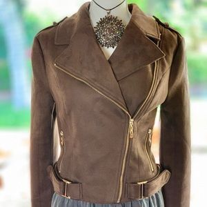 Like new Romeo and Juliet FAUX SUEDE Moto jacket